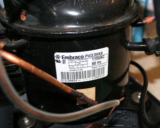 ZC-500Eのコンプレッサー