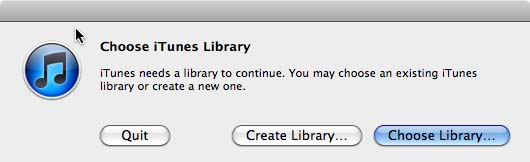 Change The iTunes Library Mac