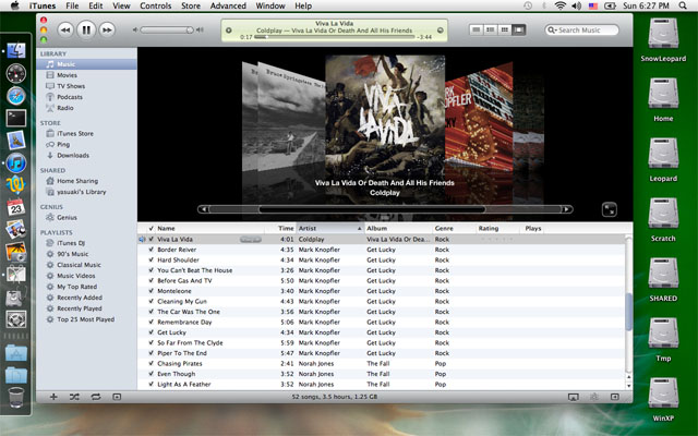 iTunes10 on Mac