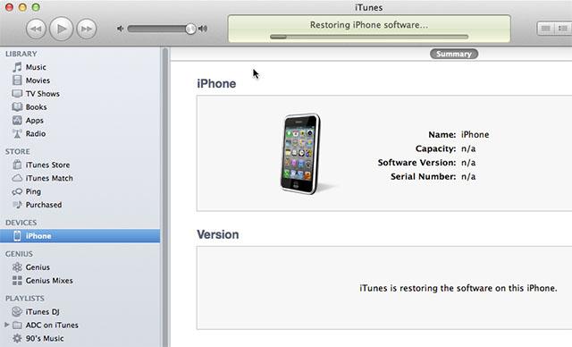 Restoring iOS