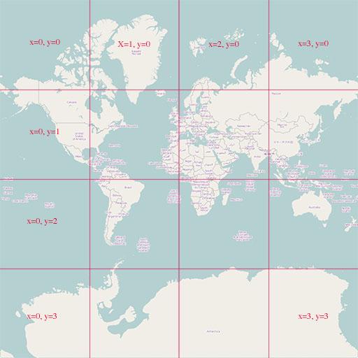 OSM Tile Zoom 2
