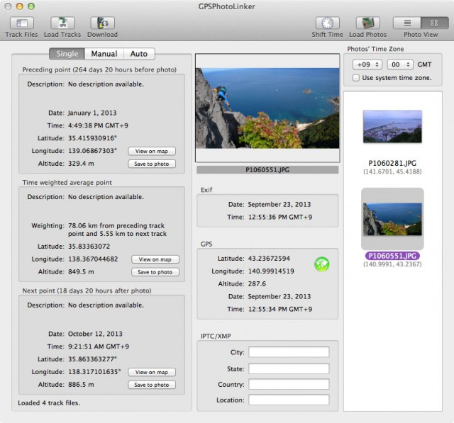 GPS PhotoLinker on Mavericks