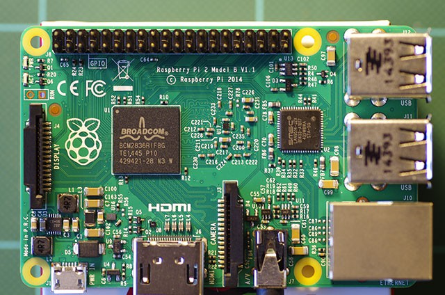 Raspberry Pi 2 Front View
