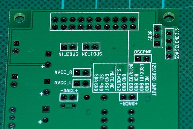 ES9018K2M DACモジュールのピンアサイン