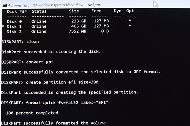 disk partitionning