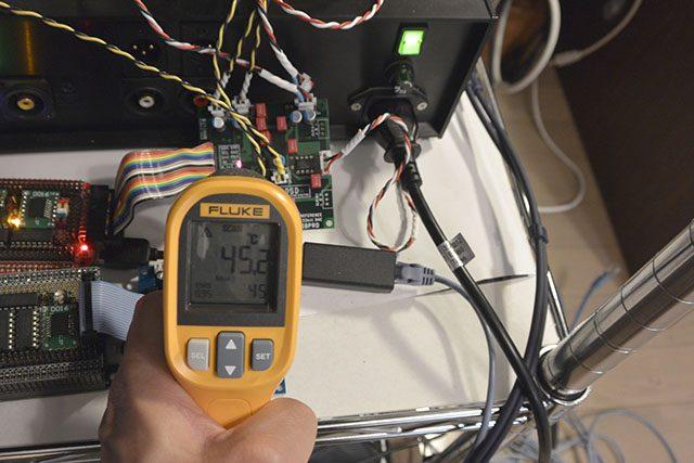 基板反対側の表面温度