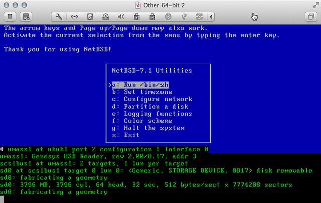 NetBSD Installer Shell