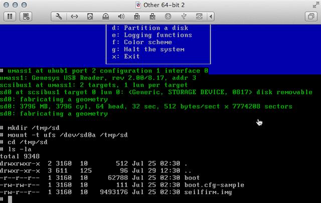 NetBSD Installer Shell 02
