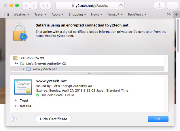y2tech SSL Access