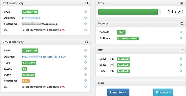 Check IPv6 VL202 Access
