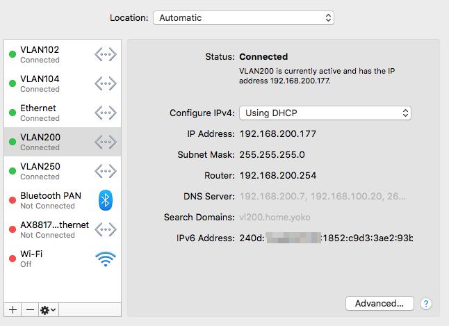 Client PC IPv6 Address
