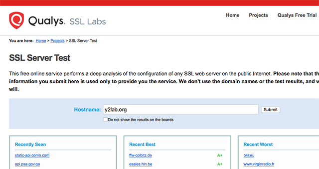 SSL Labs - Server Domain