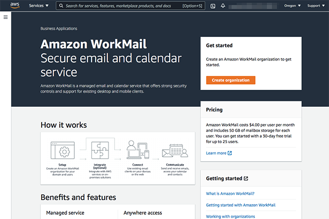 AWS WorkMail Service