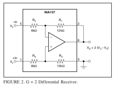 INA137 DoubleGain Circuit