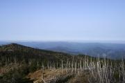 八経ヶ岳から南西方面