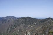 釈迦ヶ岳から北側を望む