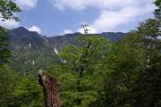 釈迦ヶ岳から孔雀岳