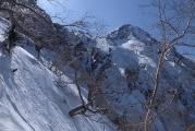 地蔵尾根から赤岳