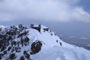 赤岳北山頂を望む