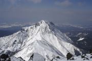 中岳の向こうに阿弥陀岳