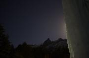 月が出てきた