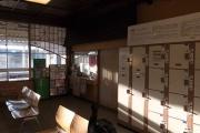 象潟駅の待合室