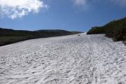 緩やかな雪渓の斜面