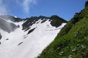 雪渓のクレバス