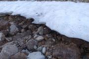 辛うじて残っている雪渓