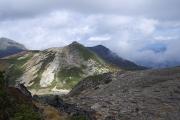 赤岳頂上から北側を望む