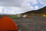 白雲岳避難小屋のテント場