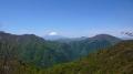 蛭ヶ岳の稜線からの眺め