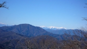 南アルプスの山並み