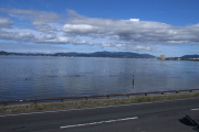 宍道湖伝いに松江へ