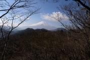 富士山を正面に見ながら