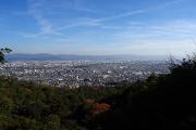 京都市南部を一望