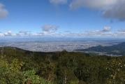 眼下には札幌の中心街