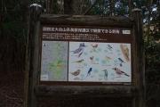 野鳥の案内板
