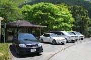 大杉峡谷登山口の駐車場