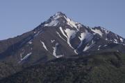 残雪の利尻山