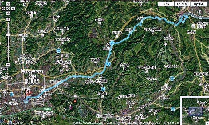 金谷宿から『小夜の中山』を越えて掛川宿へ