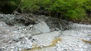 河原が大荒れ
