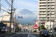 右手には富士山が