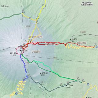 Fuji Trail MapThumbnail Yahoo Japan Map
