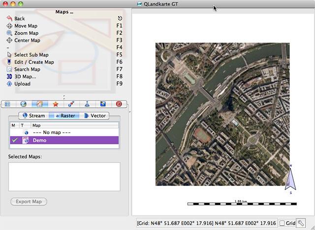 QTLandkarte Screen Shot