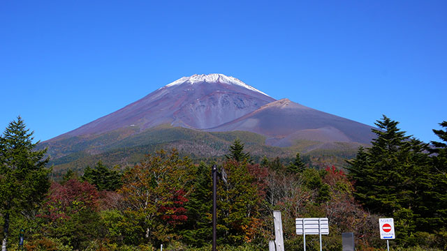 水ヶ塚駐車場からの富士山