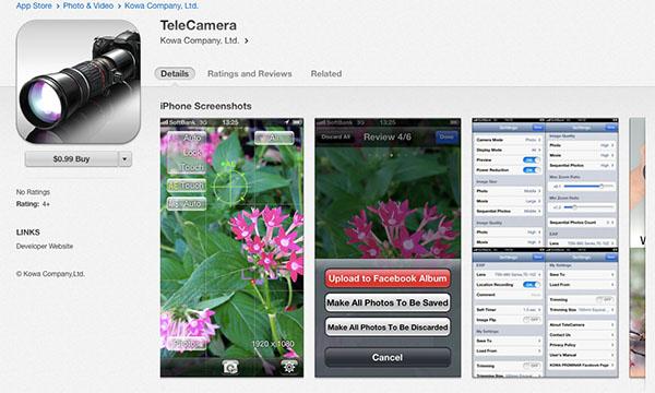 TeleCamera on AppStore 1
