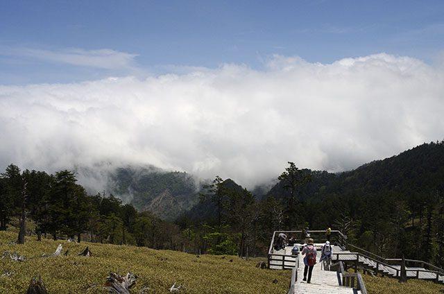 雲を眺めるには絶好の場所