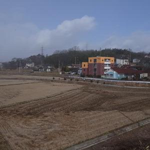 線路の周辺は今でも田圃