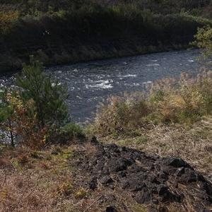 現在は河川敷の一部